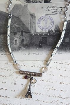 Jewel of Paris-Vintage assemblage necklace by frenchfeatherdesigns
