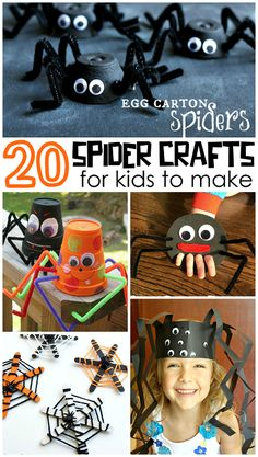 Cutesy Spider Kids Crafts to Make for Halloween - Crafty Morning