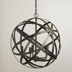 Metal Orb Chandelier from Cost Plus World Market's New Desert Caravan Collection >> #WorldMarket Home Decor Ideas