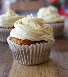Healthy Carrot Muffins with Bush Honey Icing