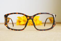 f713f1ebf7 Vintage Christian Dior Eyeglasses 1980s Glasses New Old  Stock hipster retro disco frames Multicolor Brown Made In Germany By optyl