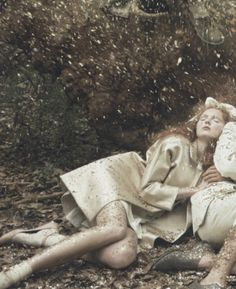 Lily Cole by Annie Leibovitz for Vogue US, December 2009