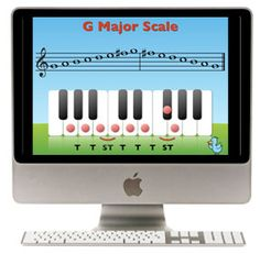 theory tutorials:  ledger lines, #-b-natural, half & whole steps, building major scales, circle of fifths, major & perfect intervals, minor intervals, building triads, finding relative minors, minor scales, and more