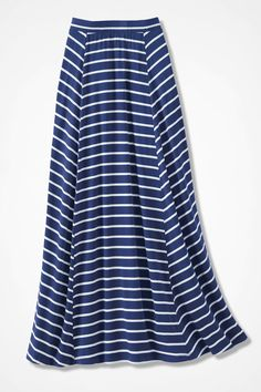 Seaside Knit Maxi Skirt, India Ink