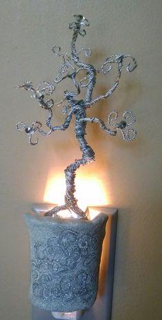 Jeweled Silver Tree Night Light / Nightlight - pinned by pin4etsy.com