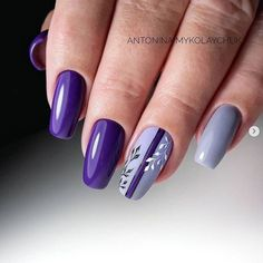 Make an original manicure for Valentine's Day - My Nails Purple Nail Art, Purple Nail Designs, Cool Nail Designs, Purple Makeup, Cute Nails, Pretty Nails, Hair And Nails, My Nails, Nail Art Fleur