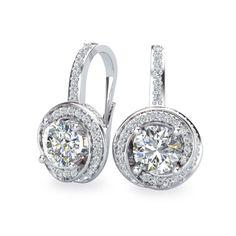 Forevermark Center of My Universe 18K White Gold & Diamond Drop Earrings