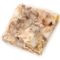 Luau Bark  Luau Bark  Ingredients and Supplies  2 pounds white chocolate  1 1/2 cups pecans, chopped  1 1/2 cups toasted coconut  1 1/4 cups miniature marshmallows  dried apricots, pineapple or other dried fruit