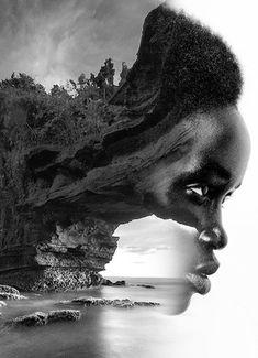 © Antonio Mora, Black cliff, 2013, digital collage