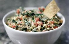 Warm Collard Green Dip.  warm, creamy dip, fully loaded with a pound of collards, plus onion, red bell pepper and garlic.