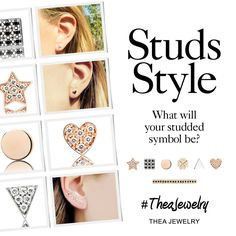 New in the shop: Studs! What will you studded symbol be? Gold 18K from 190€ on www.thea-jewelry.com