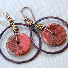 Magnasite and Hoop Earrings  Ringalings by Pobbletoes on Etsy   - handmade - jewelry - jewellery - fashion - earrings