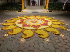 Rangoli Designs Flower, Flower Rangoli, Diwali Decorations, Flooring, Stone, Drawings, Outdoor Decor, Flowers, Diy