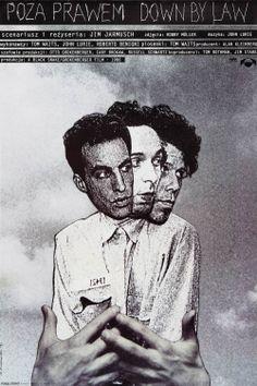 Polish poster for DOWN BY LAW (Jim Jarmusch, USA, 1986)   Designer: Andrzej Klimowski