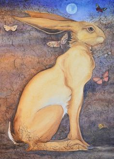 The Song of the Golden Hare by Jackie Morris.I'm torn between posting on the Hare board and the Jackie Morris board Hare Illustration, Illustrations, Illustration Pictures, Jack Rabbit, Rabbit Art, Lapin Art, March Hare, November 2013, Bunny Art