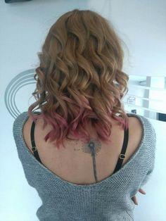 DIP DYE HAIR  Blond i róż plus loki 😍