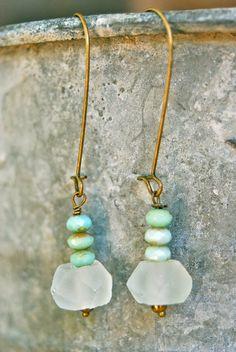 Olivia. bohobeadeddangle earrings. by tiedupmemories on Etsy, $14.50