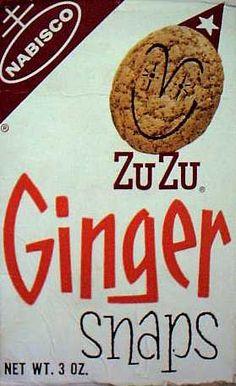 ZuZu Ginger Snaps  c. 1968