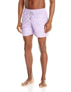 Le Club Mens PWave Printed Swim Trunk PurpleMulti XXLarge -- Click the VISIT button to find out more