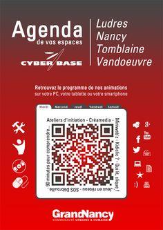 Retrouvez toutes les animations du Réseau Cyber-base du Grand Nancy dans votre agenda !