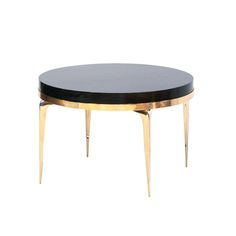 Buy Brass Banded Round Stiletto Side Table by CF Modern - Made-to-Order designer Furniture from Dering Hall's collection of Contemporary Mid-Century / Modern Art Deco Side & End Tables.