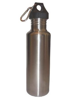 Silver 27oz Wide Mouth Stainless Steel Reusable Water Bottle w Hiking Clip * Click image for more details.Note:It is affiliate link to Amazon.