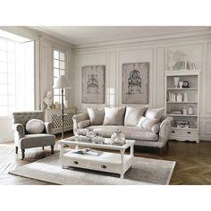 2 tele in legno e lino 80 x 120 cm FONTENAY   Maisons du Monde