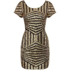 Yoins Gold Geometric Sequin Short Sleeve Open Back Dress ($29) ❤ liked on Polyvore featuring dresses, gold, short gold dresses, short sleeve dress, body con dress, gold sparkly dress and sequin party dresses