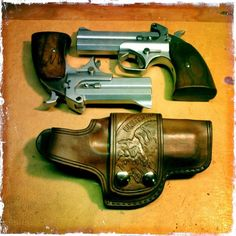 Custom carved leather holster, and custom grips by: the Uker of OZ