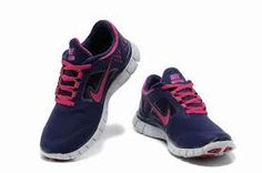 new style fed5c 18142 Nike Free Run 3 Women s Running Shoe ShoppingNight Blue Pure Platinum -Fireberry