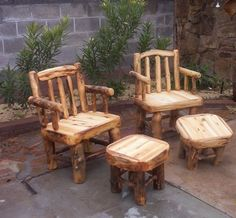 1000 images about Log Furniture on Pinterest