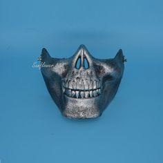 2017 New Men Protective Skeleton Skull Face Army CS Mask Shield For Airsoft War Games Battlefield Cosplay Masks Airsoft Mask, Airsoft Guns, Tac Gear, Half Face Mask, Leather Armor, Protective Mask, Skull Face, Masks Art, Masquerade Party
