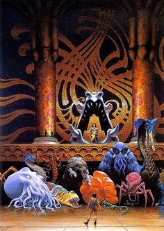 RICHARD HESCOX - art for Omens of Kregan by Alan Burt Akers & Dray Prescot - 1985 DAW Books