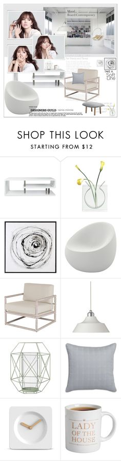 """Mood Board Contemporary"" by rainie-minnie ❤ liked on Polyvore featuring interior, interiors, interior design, home, home decor, interior decorating, Laneige, Furniture of America, Vondom and Dyberg Larsen"