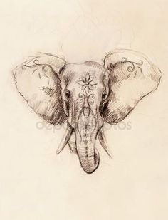 Elephant tattoo Stock Photos Royalty Free Elephant tattoo Images Informations About Elephant tattoo Bild Tattoos, Body Art Tattoos, Tattoo Drawings, New Tattoos, Sleeve Tattoos, Cool Tattoos, Tatoos, Diy Tattoo, Tattoo Foto