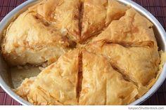 Griechischer Kuchen aus Blätterteig Griechischer Schichtkuchen - Griechische Rezepte
