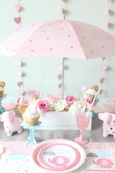 Perfect Umbrellaphants Baby Shower Diy Umbrella Centerpiece