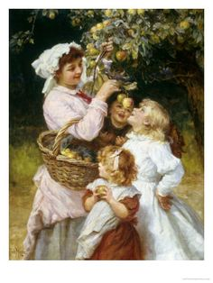 Picking Apples ~  Frederick Morgan