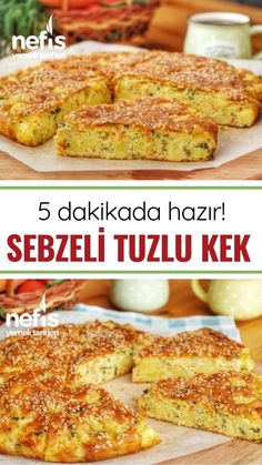 Sebzeli Tuzlu Kek Tarifi (videolu) – Nefis Yemek Tarifleri Vegetable Salty Cake Recipe (with video) – Yummy Recipes Yummy Recipes, Keto Recipes, Dessert Recipes, Cooking Recipes, Yummy Food, Vegetable Cake, Vegetable Recipes, Salt Cake Recipe, Sem Lactose