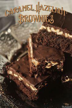 Caramel Hazelnut Brownies