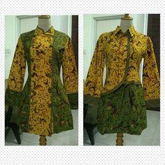 Mode Batik, Batik Fashion, Muslim Fashion, Dresses With Sleeves, Sewing, Blouse, Long Sleeve, Model, How To Wear