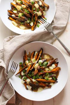Sweet Potato Poutine with Vegetarian Gravy - The Girl on Bloor