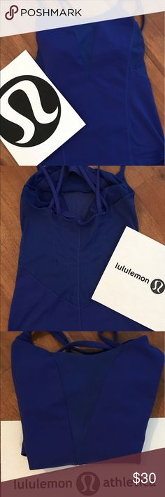 Lululemon Athletica Criss-Cross Strappy Top Size 4 🔥Lululemon Athletica Criss-Cross Strappy Top Size 4 Gently Used. lululemon athletica Tops Tank Tops