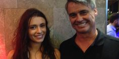 Our Xmas party 2015 - Actor Demi Alexandria and our most gracious host Craig Allen Executive Chairman of OFFIS