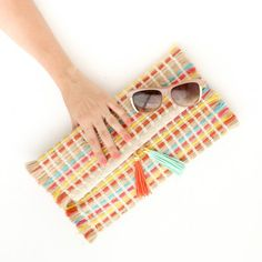 You won't believe what this clutch is made out of, or the fact that it takes less than 10 minutes to make and no sewing machine is required!