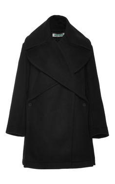 Oversized Wool-Blend Coat by Kenzo - Moda Operandi