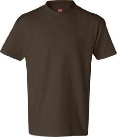 Hanes Authentic TAGLESS Kids' Cotton T-Shirt TAGLESS 6.1, M-Dark Chocolate Hanes http://www.amazon.com/dp/B004CO36JC/ref=cm_sw_r_pi_dp_oEtqub1CCN6JP
