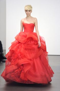 Rhapsody à la crème: April 2012: Vera Wang Bridal 13: the Katherine, also available in whites and ivories....