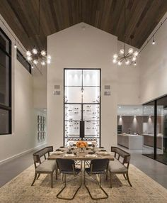 Contemporary vineyard estate boasts gorgeous details in Napa Valley Modern Country, Modern Farmhouse, Wine Country, Country Kitchen, Country Decor, Farmhouse Style, Family Dining Rooms, Lounge Areas, Dining Room Design