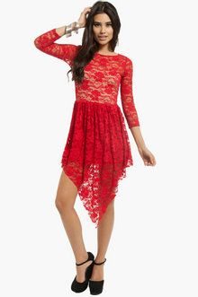 HAVANA LACE DRESS - Red
